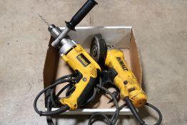dewalt 4.5'' angle grinder, dewalt 1/2'' vsr drill