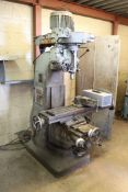 Index Machine and tool Knee Mill, 9'' x 46'' w/ Table Vise and Clamping set, Lot of endmills