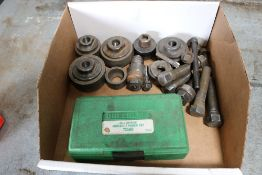 Greenlee Bull Bering, Knockout Punch Set, Various Size Knockout Punches, w/ Greenlee Manual Punch