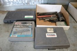 thread setter kit, ridgid 345 flaring tool, impact sockets and wrenches
