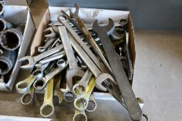 Lot of various size wrenches