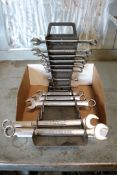 lot of various size socket wrenches