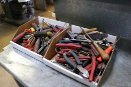 Large lot of Hand Tools screw drivers, flat heads, wire cutters and others