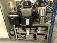 Large Misc. Lot of stainless steel pans (and mostly covers). This lot includes the stainless steel