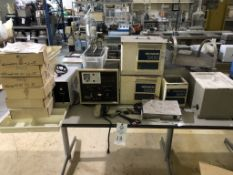 Ultrasonic cleaners and heated tanks (all stainless steel) and Selectron LTD. Model 1015 MPP plating