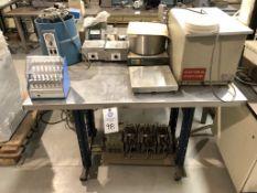 Branson model B-92, Buchi model 461, (2) Thermolyne Type 1900 hot plates, Buchler Instruments Evap-