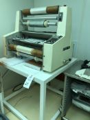 """Dupont Riston HRL-24"""" Hot Roll Laminator with manual and support table (white). Manual is"""