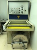 Dupont Riston PC-30 Photoresist exposure unit/printer. This lot includes a nice clean room vacuum