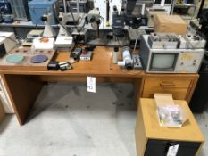 Lot of Misc. Microscopes and optical gauging systems. Lot includes two optical laps, and a nice