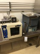 VWR Model 1410 Vacuum Oven, Welch Duo Seal Model 1400 two stage vacuum pump, Blue M box type