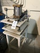 4 post air operated platen press using Speedaire model 2W490 air cylinder