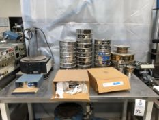FMC/Syntron RoTap Style Test Sieve Shaker with a large lot of ASTM E-11 Test Sieves. Includes