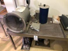 Refrac Custom CRESS 316L Vacuum Storage Tank, Welch Duo Seal Model 1400 Two Stage Vacuum Pump,
