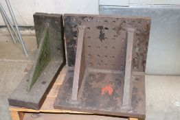 """Large Angle Plates on Pallet (1) @ 16"""" x 13"""" and 16"""" x 12"""" (2) 6"""" x 12"""" and 6"""" x 16"""""""