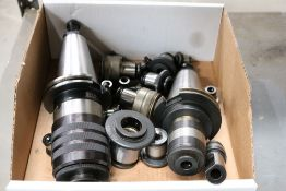 (2) CAT 50 Tool Holder Tapping Heads with Various Size Tapping Inserts