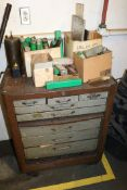 Large Cabinet Full of Various Tooling, Endmills, Drills, HSS, Fly Cutters, Taps, Dowel Pins, Jacob