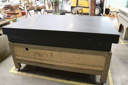 """Black Granite Surface Inspection Table 4' x 6' x 10"""", Table Grade A, Next Inspection Required 5-5-"""
