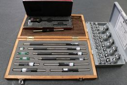 Starrett Digital Micrometer, Brown and Sharpe Precision Inspection Balls and Mititoyo Micrometer