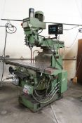 Microcut 5000VS Knee Mill, 5HP, Anilam Wizard 350 Plus DRO, Servo Y Axis, Auto Up and Down,
