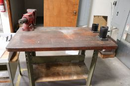 """Tool Station Work Table with CAT 50 Tool Keys and Roughneck 5"""" Table Vise"""