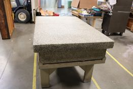 """Granite Surface Inspection Table 3' x 5' x 10"""" Grade A, Next Required Inspection 5-5-22"""