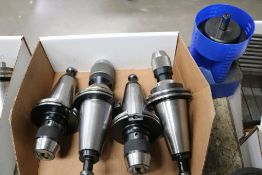 (5) Various CAT 50 Tool Holders, Facemill and Side Lock