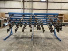 """JLT 79F-12-PC Panel Clamp Rack w/30 Clamps. Equipped with 30 3.5"""" high jaw 40"""" opening clamps, 5"""