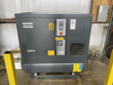 2018 Atlas Copco G11FF 15 HP Air Compressor. SN ITJ180185, Year 2018. Equipped with 125 PSI