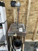 """Fawcett 102A Paint Stirrer and Stand. Equipped with 20A motor, w-1/2"""" capacity, two props."""