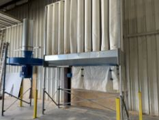 2017 25 HP 40 Bag Baghouse Dust Collector. Equipped with 40 bags, 18.5 KW motor, Nestro 1500 x 665