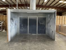 Col-met CP-23-3P-3-1F-S 12' W x 8' H x 7' D Paint Spray Booth. Equipped with 3 HP exhaust fan, 12,