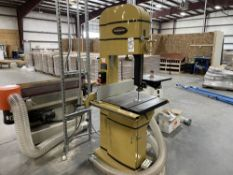 """2018 Powermatic PM1800 18"""" Vertical Bandsaw. SN 180818000128, Year 2018. Equipped with 5 HP motor,"""
