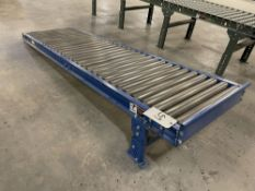 """Lewco 8' Adjustable Height Roller Table. Equipped with 24"""" wide rollers, adjustable height legs to"""
