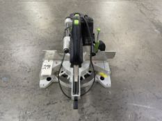 Festool KS 120 REB Sliding Compound Miter Saw. Equipped with 91% dust extraction effectiveness, dual