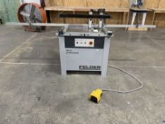 Felder FD 21 Professional Dowel Boring Machine. SN 432.08.135.18, Year 2018. Equipped with 2 420mm