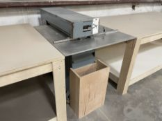 """Mar-Bel DLS 26 Laminate Slitter. SN 1024, Year 1995. Equipped with 26"""" throat, fence."""