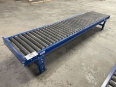 Lewco 10' Adjustable Height Roller Table.