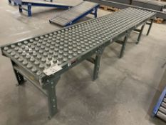 """Hytrol 12' L x 2' W Adjustable Height Ball Transfer Table. Equipped with 12' length, 24"""" wide span"""