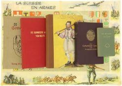 Konvolut von 5 Büchern, Sonderbund/Schweizer Armee