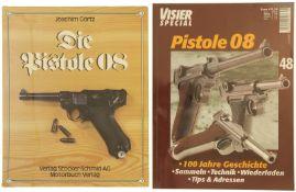 """Konvolut 1 Buch und 1 Heft """"Pistole 08"""""""