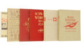 Konvolut von 6 Büchern, Schweiz im 2. Weltkrieg etc.