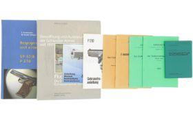 Konv. 2 Bücher, 5 Reglemente und 2 Bedienungsanleitungen