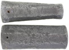 Konvolut von 2 Standböllern, Kal. 27mm und 36mm