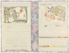 Fotoalbum mit Konvolut von 34 Soldatenpostkarten