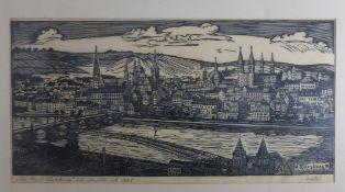 Holzschnitt Würzburg