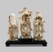 3 Glücksgötter / China um 1900