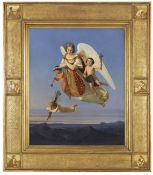 Detlev (Ditlev) Conrad Blunck - Allegorie des Sonntags - Öl auf Leinwand - 1841