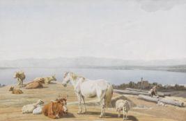 Wilhelm von Kobell - Am Ufer des Starnberger Sees - Aquarell - 1813