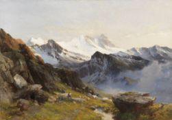 Edward Theodore Compton - Großglockner von der Prager Hütte aus, früh - Öl auf Leinwand - 1890