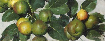 Joseph Decker - Birnen - Öl auf Leinwand - 1884